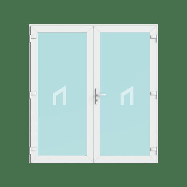kunststof openslaande dubbele deuren