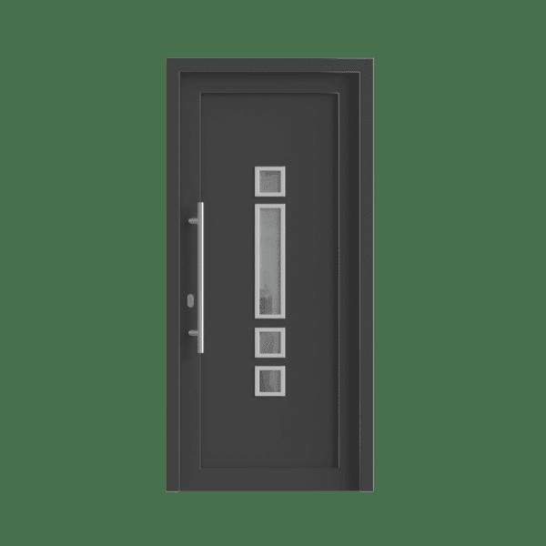 kunststof voordeur met luxe greep