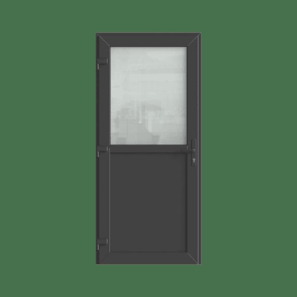 antraciet kunststof deur