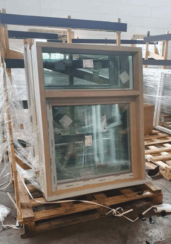Draaikiep kozijn met houtlook
