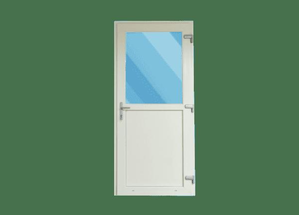 cremewit kunststof deur vooraanzicht