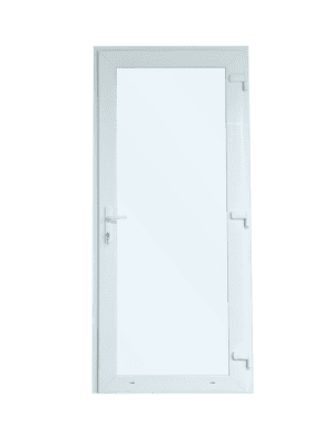 Kunststof Deur met Kozijn - Volledig Glas