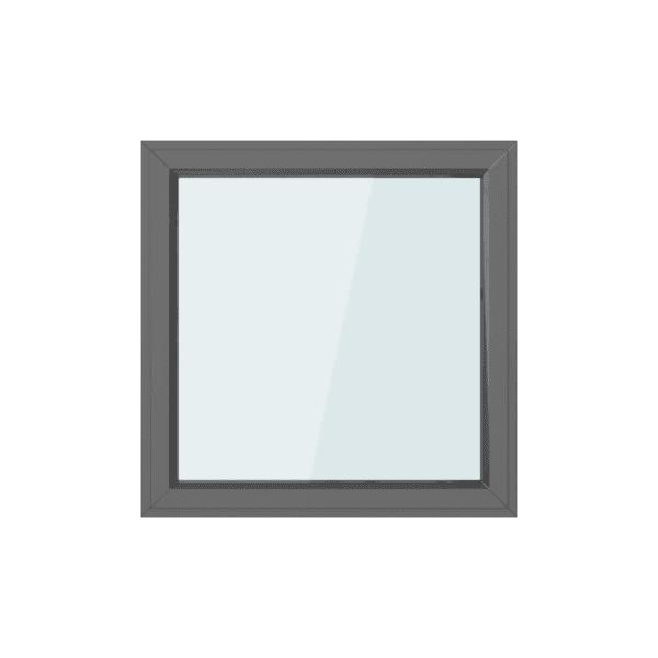 Antraciete Kunststof Draaikiep Kozijn 100x100